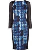 Karen Millen Graphic Print Dress - Lyst