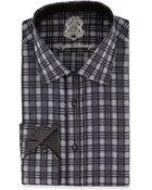 English Laundry Plaid Woven Dress Shirt - Lyst