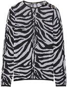 Balmain Zebra-Intarsia Wool Sweater - Lyst
