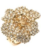 Alexander McQueen Crystal-Embellished Flower Ring - Lyst
