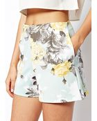 Asos Shorts in Floral Printed Scuba - Lyst