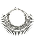 Topshop Freedom Found Spike Drop Collar Necklace - Lyst