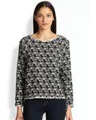 Alice + Olivia Mayer Raglan Tweed Pullover - Lyst