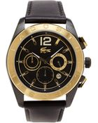 Lacoste 2010741 Gold Tone  Black Watch - Lyst