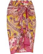Etro Printed Cotton And Silk-Blend Pareo - Lyst
