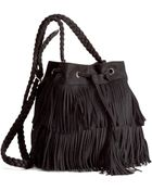 H&M Fringed Shoulder Bag - Lyst