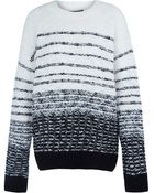Vince Cream Textured Stripe Knitted Jumper - Lyst