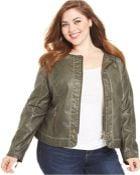 Jou Jou Plus Size Faux-Leather Jacket - Lyst