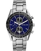 Michael Kors Mid-Size Silver Color Stainless Steel Accelerator Chronograph Watch - Lyst