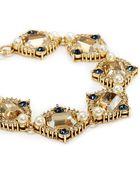 St. John 'Ornate' Swarovski Crystal Pearl Pavé Bracelet - Lyst