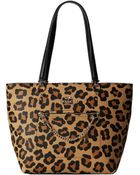 Coach Printed Ocelot Town Car Tote - Lyst