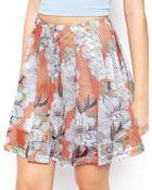 Asos Skirt In Floral Print - Lyst