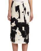 Donna Karan New York Abstract Embellished Pencil Skirt - Lyst