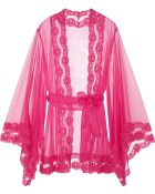 Agent Provocateur Lacy Kimono Lace-Trimmed Tulle Robe - Lyst