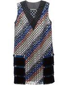 Marco De Vincenzo Fringe-Detail Embroidered Dress - Lyst