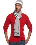 Hugo Boss Green Label Stripe Scarf - Lyst