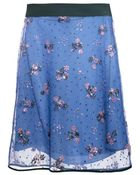 Mary Katrantzou Floral-Embellished Tulle Skirt - Lyst