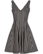 Opening Ceremony Printed Stretch Cotton Blend Dress - Lyst