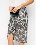 TFNC Midi Dress With Sequin Leaf Wrap Skirt - Lyst