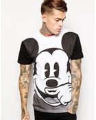 Eleven Paris T-Shirt With Oversized Mickey Mouse Print - Lyst