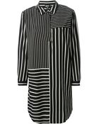 DKNY Striped Shirt Dress - Lyst