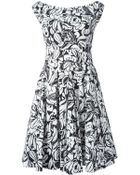 Blumarine Floral-Print Pleated Skirt Dress - Lyst