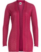 M Missoni Cotton Blend Knit Cardigan - Lyst