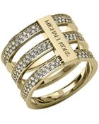 Michael Kors Triple-Stack Pave Ring - Lyst