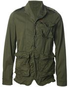 DSquared2 Distressed Military Jacket - Lyst