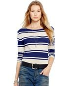 Polo Ralph Lauren Striped Long-Sleeved Tee - Lyst