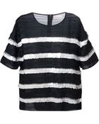 RED Valentino Sequin Embellished Striped Top - Lyst