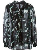 Proenza Schouler Crepe Pussy Bow Blouse - Lyst