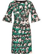 Marni Printed Cotton And Silk-Blend Twill Dress - Lyst