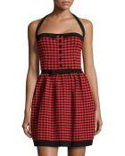 M Missoni Check-Knit Halter Dress - Lyst