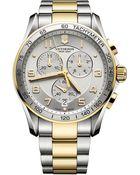 Victorinox Mens Two Tone Chronograph Classic Xls Watch - Lyst