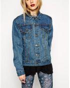 Asos Reclaimed Vintage Over Sized Boyfriend Denim Jacket - Lyst