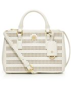 Tory Burch Robinson Perforated Mini Double-Zip Tote - Lyst