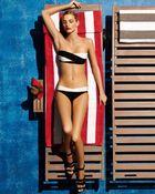 Hervé Léger Twotone Bandage Twopiece Swimsuit - Lyst