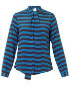 Stella Jean Daria Striped Silk Shirt - Lyst