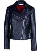 Victoria Beckham Leather Outerwear - Lyst