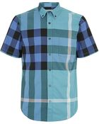 Burberry Brit Large Check Short Sleeve Shirt - Lyst