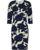 Reiss Leila Fitted Floral Dress - Lyst