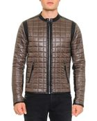 Dolce & Gabbana Quilted Jacket W/ Leather Trim - Lyst