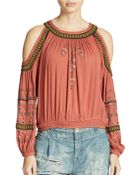 Free People Give Him The Cold Shoulder Top - Lyst