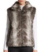 Surell Faux Fur Vest - Lyst