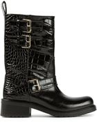 DSquared² Buckled Biker Boots - Lyst