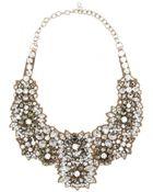 Valentino Crystal-Embellished Satin Necklace - Lyst