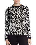 Generation Love Cheetah-Print Sweater - Lyst