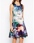 Coast Millie Dress In Scuba Scenic Print - Lyst