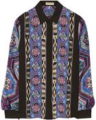 Emilio Pucci Printed Silk-Charmeuse Blouse - Lyst